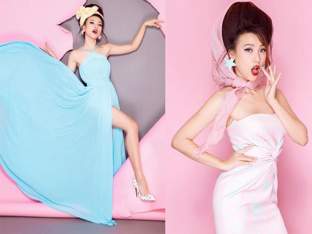 Á hậu Hoàng Oanh ngọt như kẹo bông với gam màu pop-art