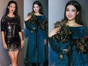 Thời trang - HH Mỹ Linh diện áo dài đẹp lấn át Hoa hậu Hoàn vũ Singapore