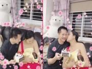 Phan Như Thảo xuất viện, hạnh phúc bế con và hôn ông xã đại gia