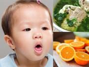 Làm mẹ - 7 loại thực phẩm cấm kỵ cho trẻ ăn khi con bị ho