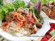 Bếp Eva - Bún sườn nướng thơm lừng cả bếp