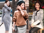 Thời trang - Gió mùa về, học lỏm sao Việt cách mặc áo len đẹp mà không bị quê