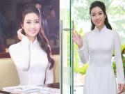 Thời trang - Hoa hậu Mỹ Linh thôi miên mọi ánh nhìn với tà áo dài trắng