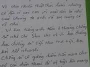 Eva tám - Rơi lệ lá thư tay đong đầy tình cảm của người chồng gửi vợ ở Lào Cai