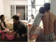 Làm mẹ - Sự thật bức ảnh ông bố soái ca quỳ gối rửa chân cho con gái được săn lùng