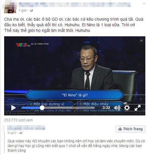 """co gai tre bong """"noi tieng"""" khi nghi el nino la mot loai sua. """""""