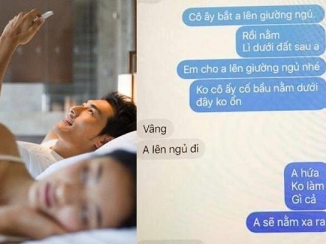Chồng khúm núm nhắn tin xin phép bồ cho được nằm cùng vợ gây phẫn nộ MXH