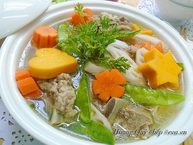 Canh sườn hầm rau củ bổ dưỡng