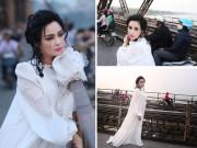 """Mạng xã hội """"nổi sóng"""" vì bộ ảnh Thanh Lam thả dáng trên cầu Long Biên"""