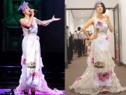 Ca sỹ Thu Phương chơi trội với áo dài hơn 100 triệu đồng tái xuất Vbiz
