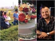 Nghẹn lòng khi thấy vợ con NS Trần Lập mang bánh sinh nhật lên mộ chồng!