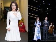 """Ái Phương đẹp ngọt ngào, biến hóa liên tục bên """"MC quốc dân"""" Phan Anh"""