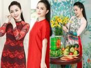 Linh Nga tất bật đi chọn áo dài du Xuân