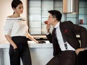 Làng sao - Á hậu Thanh Tú tự tin làm mẫu ảnh bên MC Vũ Mạnh Cường