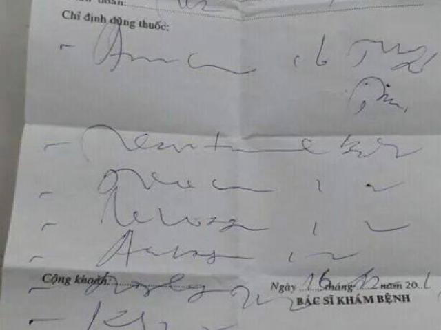 Bó tay với đơn thuốc bác sĩ kê, cô gái trẻ lên mạng cầu cứu