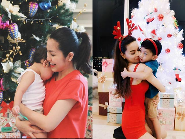 Hà Tăng, Hà Hồ cùng dàn sao Việt bỉm sữa nô nức khoe ảnh con cưng đón Noel