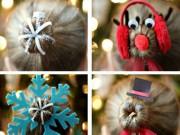 """Làm mẹ - 4 kiểu tóc mẹ làm cho con gái, xuống phố chơi Noel là """"nổi bần bật"""" vì xinh như búp bê"""