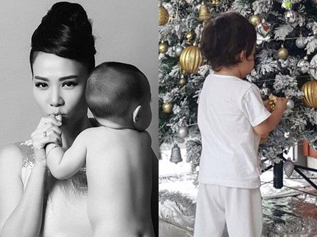 Con trai Thu Minh tóc xoăn đáng yêu, tự tay giúp mẹ dọn nhà