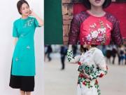 Thời trang - Không phải áo dài gấm, áo dài thêu ruy băng mới hot nhất Tết năm nay