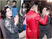 Mẹ Noo Phước Thịnh đẹp đằm thắm, hạnh phúc bên con trai trong tiệc cuối năm