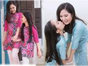 Thời trang - Mẫu nhí hot nhất Hà Nội cùng mẹ xúng xính áo dài đôi đón Xuân