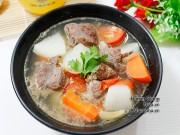 Bếp Eva - Canh bắp bò nấu rau củ nóng hổi vừa ăn vừa thổi