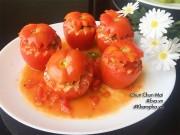 Bếp Eva - Cuối tuần đãi cả nhà cà chua nhồi thịt hấp