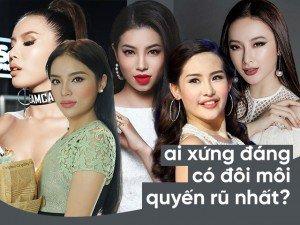 Ai trong số mỹ nhân Việt là người sở hữu đôi môi tều quyến rũ nhất?