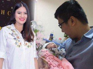 Gái quê Lê Thị Phương và ông xã hạnh phúc đón con gái đầu lòng