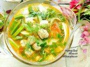 Bếp Eva - Canh riêu chả cá thác lác chua chua thanh mát dễ ăn