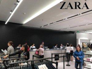 Mưa gió ngày khai trương, Zara đón lượng khách không đông như mong đợi
