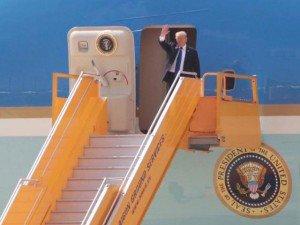 Những hình ảnh đầu tiên của Tổng thống Donal Trump tại Đà Nẵng