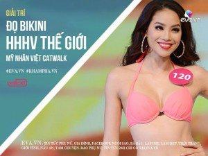 Đọ trình catwalk của người đẹp Việt với bikini trên sân khấu Hoa hậu Hoàn Vũ
