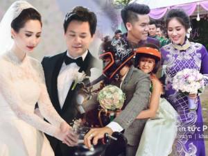 Những điểm nhấn khó quên nhất trong đám cưới sao Việt năm 2017