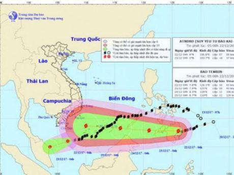 Bão số 15 (Kaitak) suy yếu thành áp thấp, gây mưa ở vùng biển phía Nam