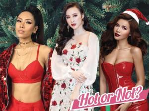 Không hẹn mà gặp, Minh Tú và Lan Khuê đụng độ sắc đỏ đêm Noel