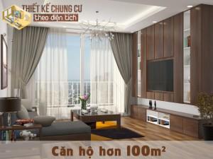 Thiết kế căn hộ chung cư hơn 100m² rộng rãi nhưng vẫn có điểm nhấn ấn tượng, hiện đại