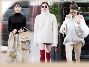 Chỉ đơn giản với áo len, Sao vẫn được khen đẹp như diện hàng hiệu nhờ 3 bí quyết này