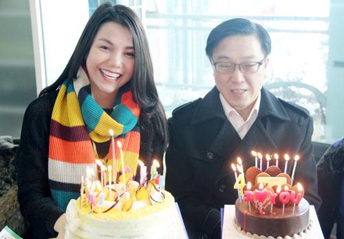 Trà Ngọc Hằng vui sinh nhật ở Hàn Quốc-10