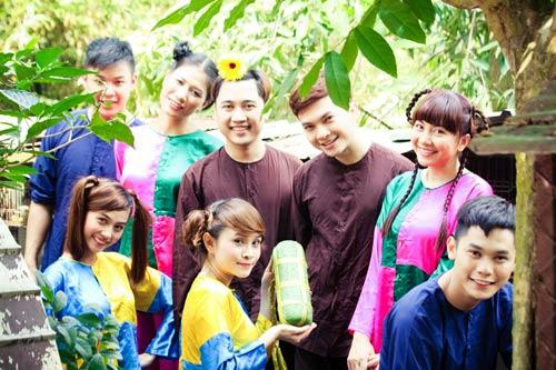 Học trò Thúy Vinh háo hức làm MV Tết-13