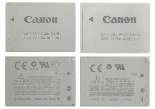 Phân biệt pin máy ảnh Canon thật và giả-2