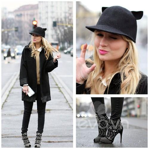 Eva Icon: Xì tai mùa đông màu mè của blogger Ý-9