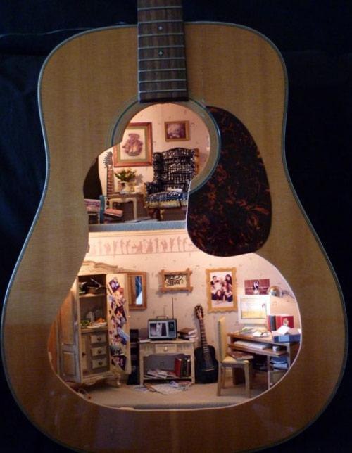 Nhà cực xinh nằm gọn trong... đàn ghita-3