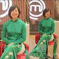 Làng sao - Vua đầu bếp gốc Việt rạng rỡ với áo dài