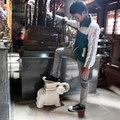 Hình ảnh phản cảm tại lễ khai ấn đền Trần