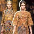 Trên sàn Catwalk - Ngộp thở trước họa tiết khảm vàng của Dolce&Gabbana
