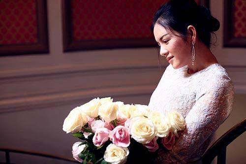 Lý Nhã Kỳ lãng mạn bên hoa hồng Pháp-8