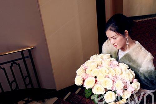 Lý Nhã Kỳ lãng mạn bên hoa hồng Pháp-9