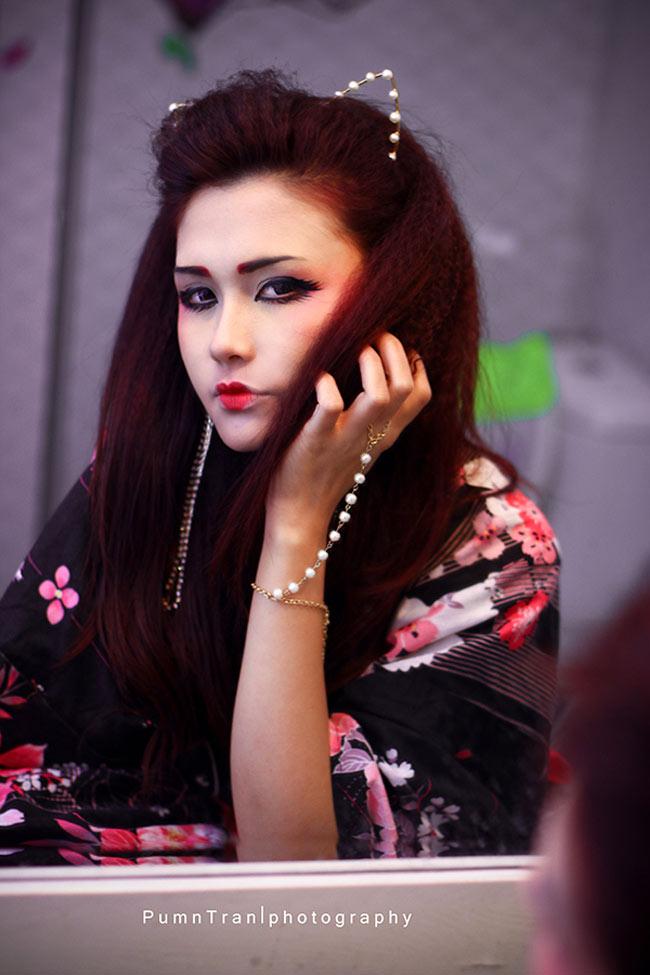 Ngắm nàng Geisha gợi cảm