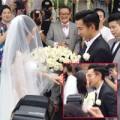 Làng sao - Dương Mịch khóa môi Khải Uy trong lễ cưới